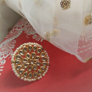 Elegant XL Kundan Ring Accessories Rings