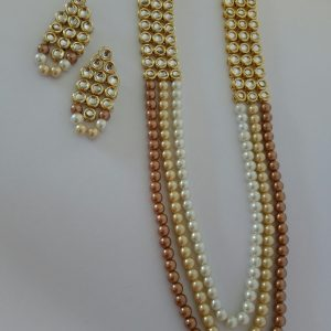 Classic Three Set Necklaces Full Gold