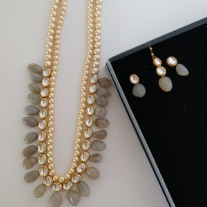 Glamorous Natural Set Necklaces Grey