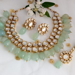 Mint Green Beauty Necklaces Green