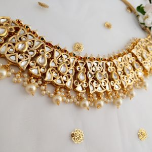 Royal Kundan Choker Necklaces Jhumka