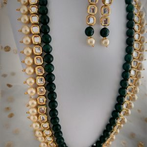 Simple Long Haar Necklaces Green