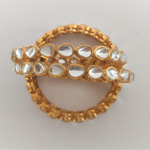Kundan-Style Bangles Accessories The Bollywood Trends Collection