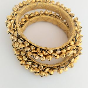 Golden Ghungroo Bangles – Size 2.10 Accessories Full Gold