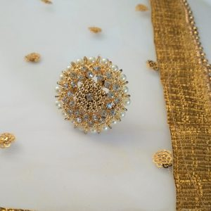Light Gold Pearl Ring Accessories Pearls