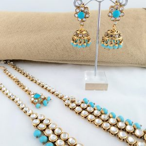 Adorable Rani Haar in Turquoise Necklaces Blue