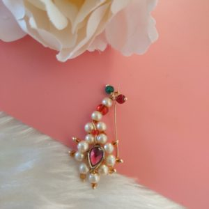 Traditional Maharashtrian Nath – Large Accessories Pearls