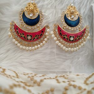Aaliya Blue/Pink Earrings Earrings Blue