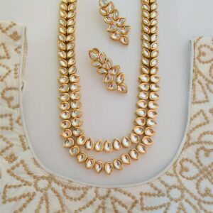 Classic Kundan Long Necklace Necklaces gold