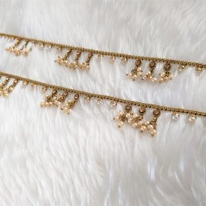 Antique Gold Pearl Payals Accessories gold