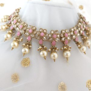 Gulabi Small Necklace Set – Pink Necklaces Baby-pink