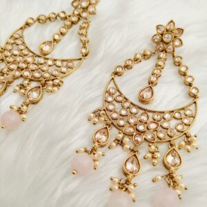 Adorable Avaani Earrings – Baby Pink Earrings Baby-pink