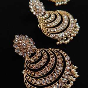 Pavan – Chandbali Tikka Set The Bollywood Trends Collection antique gold