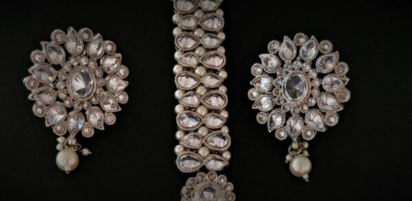 Reet Silver Tikka Set The Bollywood Trends Collection Pearls