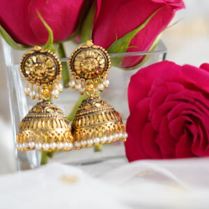 Janeesa Jhumka Earrings Earrings Jhumka